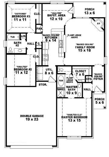 Best 3 Bedroom House Plans Home Designs Celebration Homes