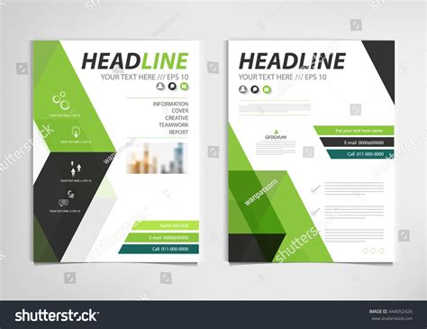 Book Report Brochure Template by Green Annual Report Brochure Template Design Stock Vector