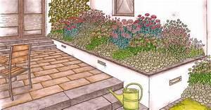 übergang Terrasse Garten : terrassenbeet zum nachpflanzen mein sch ner garten ~ Markanthonyermac.com Haus und Dekorationen