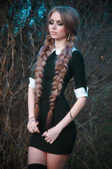 ideas  braided pigtails  pinterest