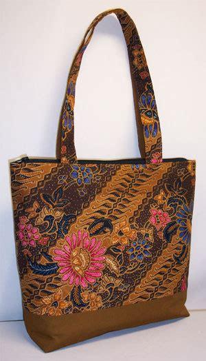 batik print brown tote bag pauljuliadesigns