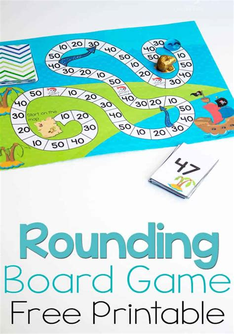 Tens solitaire card game complete rules. Free Printable Pirate Board Game: Rounding to Tens