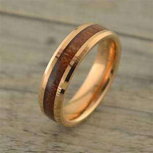 Awesome Mens Wedding Bands Wood Inlay