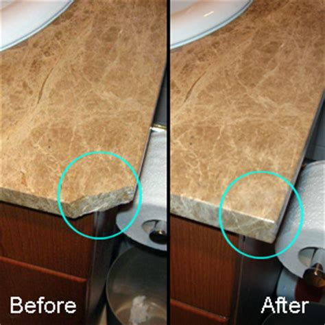 bathroom how can i repair a granite countertop where