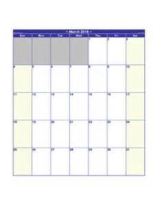 Blank Printable Calendar 2018