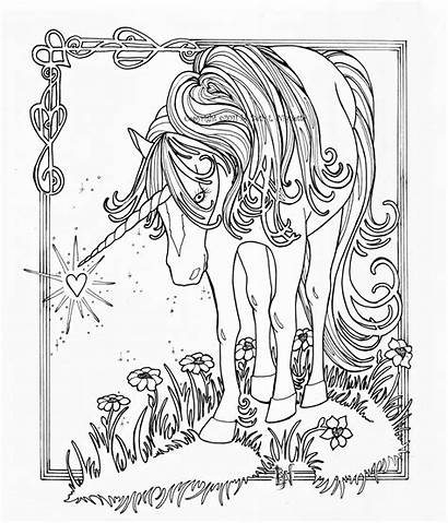 Unicorn Coloring Pages Realistic Animal