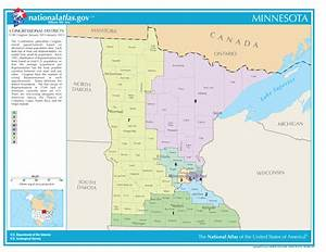 Minnesota Congressional Districts Map for the 114th US ...