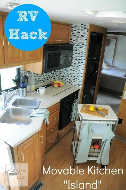 rv hack   counter space   movable kitchen