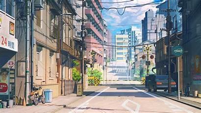 Anime Desktop Cloud Wallpapers Japanese Town Bf38
