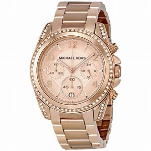Michael Kors Blair Chronograph Rose Dial Ladies Watch ...