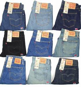 Levis 505 Mens Jeans Regular Fit Straight Leg MANY SIZES u0026 COLORS New With Tags | eBay