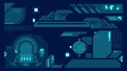 Hud Futuristic Interface Animated Anime Cyberpunk Elements