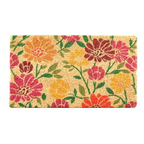 Doormat Designs by Hometrax Designs Outdoor Daisies 1 Ft 6 In X 2 Ft