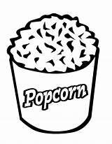 Coloring Popcorn Pop Corn Template Bag Becuo Clipart Cliparts Sheet Bucket Clip Kernel Library Coloringhome sketch template