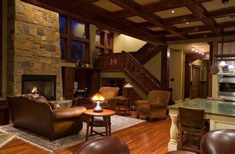 style home interior craftsman style homes interior with brown sofa and with