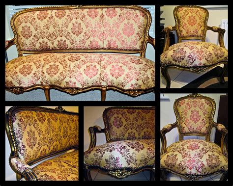 Antique Furniture Sofa by 1860 1880 Antique Sofa And 2 Chairs Louis Xv Style