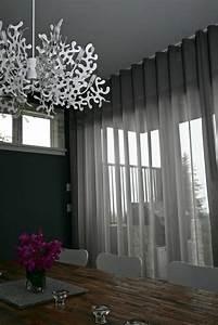 Rideau Salon Gris : le rideau voilage dans 41 photos ~ Teatrodelosmanantiales.com Idées de Décoration
