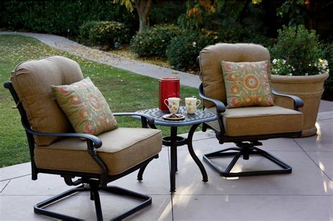 patio furniture cast aluminum seating rocker set