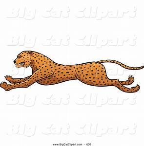 Leopard Running Clipart