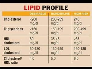 Lipid Profile Chart Triglycerides Hdl Ldl Total