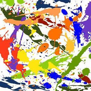 Tache De Couleur Peinture Fond Blanc : la tache de peinture de couleur clabousse chute pour le fond illustration de vecteur ~ Melissatoandfro.com Idées de Décoration
