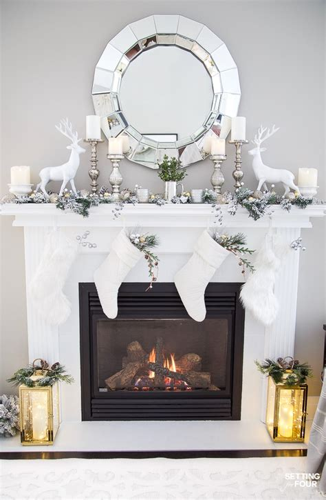 christmas mantel decorating ideas  deer stockings