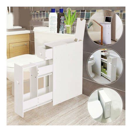 small bathroom storage cabinet  standing toilet paper
