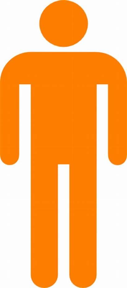 Silhouette Person Clip Clipart Orange Outline Transparent