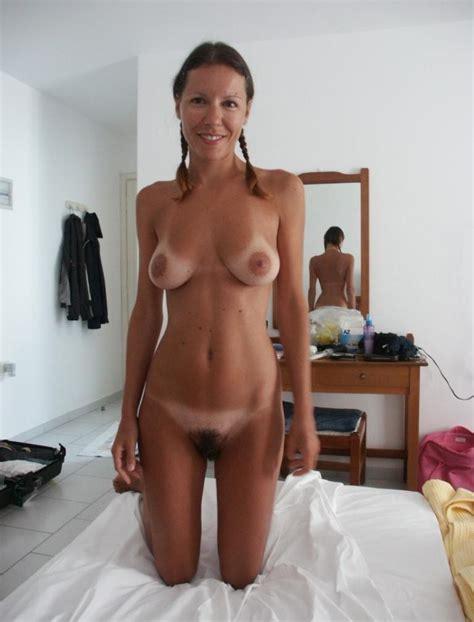 amateur with pigtails tan lines and bush porn pic eporner