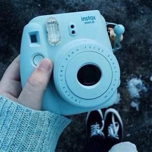 blue polaroid camera | Tumblr