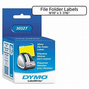 dymo 1 up file folder labels for label printers 3 7 16 x With file label printer