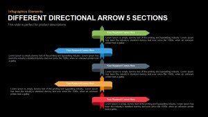 5 stage arrow diagram template for powerpoint keynote slidebazaar