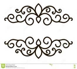 Black and White Swirly Border Designs