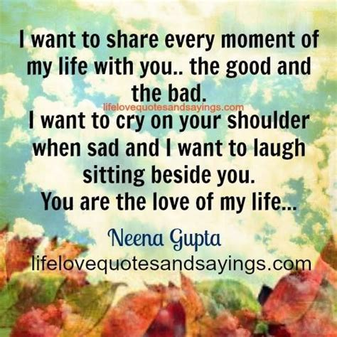 Share My Life With You Quotes
