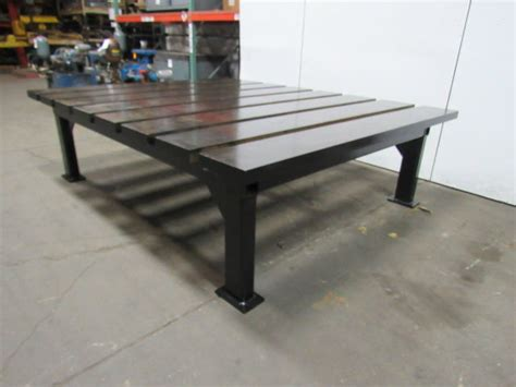 thick heavy duty steel welding layout work table