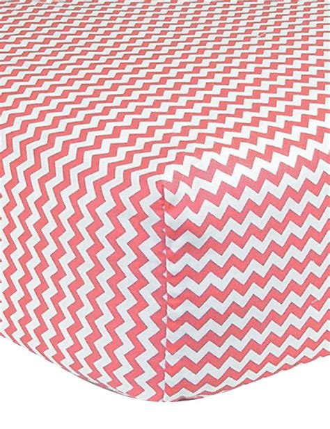 Trend Lab Cocoa Coral Fitted Crib Sheet Stage Stores