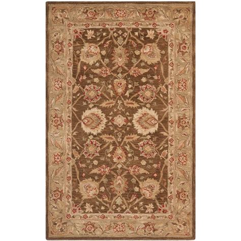 5 8 Area Rugs by Safavieh Anatolia Brown Green 5 Ft X 8 Ft Area Rug