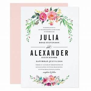 bohemian floral wedding invitation zazzlecomau With wedding invitations native flowers