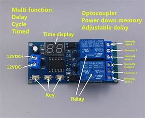 Time Delay On Off Switch On 12v Double Circuit Relay