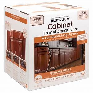 Rust oleum transformations cabinet wood refinishing system for Paint for wood furniture home depot