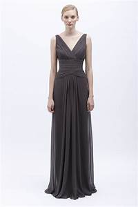 Monique lhuillier spring 2014 bridesmaid dress 450136 for Charcoal dresses for weddings