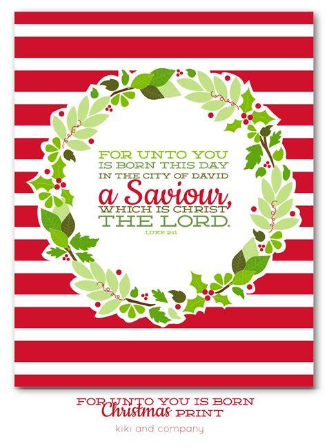 For Unto You Is Born Christmas Print  New Christmas Print Day 2  Kiki & Company
