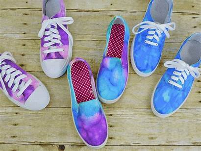 Tie Shoes Dye Diy Crafts Dyed Canvas