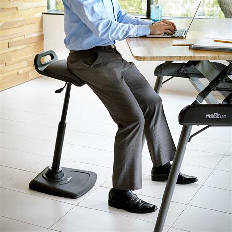 high chair for standing desk shop standing desk products varidesk sit to stand desks