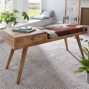 Bettbank Mit Stauraum : finebuy sitzbank silam ziegenfell massivholz bank 100 x ~ Watch28wear.com Haus und Dekorationen