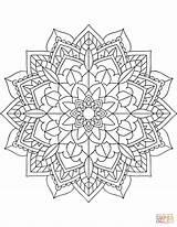 Coloring Mandala Floral Pages Printable Dot Drawing sketch template