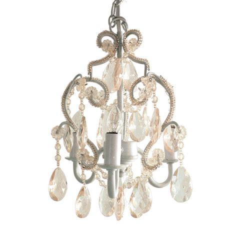 Mini Chandeliers by Tadpoles 3 Light White Mini Chandelier Cchapl010