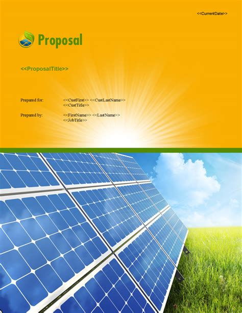 proposal pack energy  software templates samples