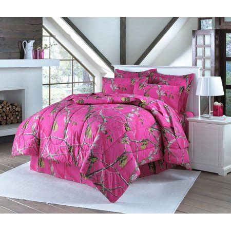 realtree hot pink camouflage sheet set full comforter