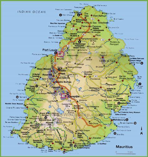 Ile De Tourisme Carte by Carte De L 206 Le Maurice Plusieurs Cartes Du Pays En Afrique